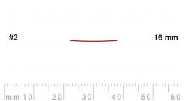 2/16-2/16, Pfeil, Gubia Recta corte 2, 16mm, semiplana.