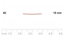 2/18-2/18, Pfeil, Gubia Recta corte 2, 18mm, semiplana.