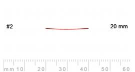 2/20-2/20, Pfeil, Gubia Recta corte 2, 20mm, semiplana.