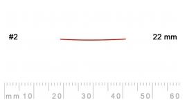 2/22-2/22, Pfeil, Gubia Recta corte 2, 22mm, semiplana.