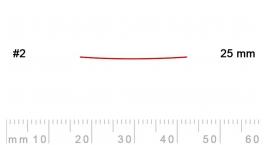 2/25-2/25, Pfeil, Gubia Recta corte 2, 25mm, semiplana.