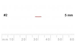 2/5-2/5, Pfeil, Gubia Recta corte 2, 5mm, semiplana.
