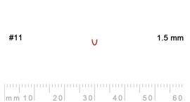 11/1.5-11/1.5, Pfeil, Gubia Recta corte 11, 1.5mm, cañón.