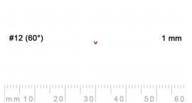 12/1-12/1, Pfeil, Gubia Recta  en V corte 12 (60°), 1mm, pico de gorrión.
