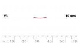 3/10-3/10, Pfeil, Gubia Recta corte 3, 10mm, semiplana.
