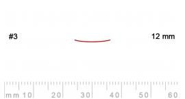 3/12-3/12, Pfeil, Gubia Recta corte 3, 12mm, semiplana.