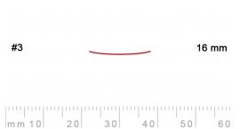 3/16-3/16, Pfeil, Gubia Recta corte 3, 16mm, semiplana.