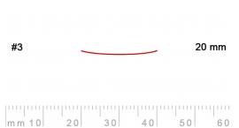 3/20-3/20, Pfeil, Gubia Recta corte 3, 20mm, semiplana.