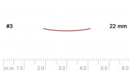 3/22-3/22, Pfeil, Gubia Recta corte 3, 22mm, semiplana.