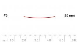 3/25-3/25, Pfeil, Gubia Recta corte 3, 25mm, semiplana.