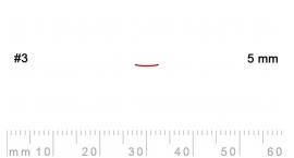 3/5-3/5, Pfeil, Gubia Recta corte 3, 5mm, semiplana.