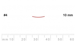 4/10-4/10, Pfeil, Gubia Recta corte #4, 10mm, semiplana.