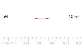4/12-4/12, Pfeil, Gubia Recta corte 4, 12mm, semiplana.