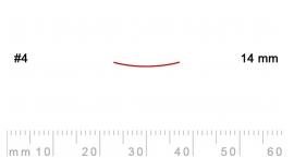 4/14-4/14, Pfeil, Gubia Recta corte 4, 14mm, semiplana.