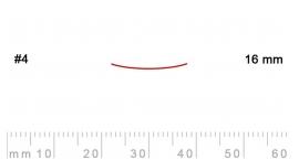 4/16-4/16, Pfeil, Gubia Recta corte 4, 16mm, semiplana.