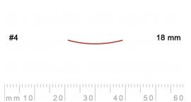 4/18-4/18, Pfeil, Gubia Recta corte 4, 18mm, semiplana.