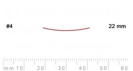 4/22-4/22, Pfeil, Gubia Recta corte #4, 22mm, semiplana.