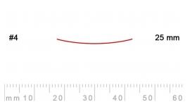 4/25-4/25, Pfeil, Gubia Recta corte #4, 25mm, semiplana.