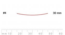 4/30-4/30, Pfeil, Gubia Recta corte #4, 30mm, semiplana.