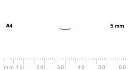 4/5-4/5, Pfeil, Gubia Recta corte 4, 5mm, semiplana.
