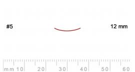 5/12-5/12, Pfeil, Gubia Recta corte 5, 12mm, semiplana.