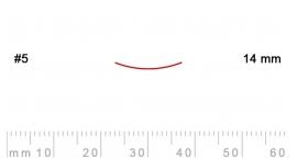 5/14-5/14, Pfeil, Gubia Recta corte 5, 14mm, semiplana.