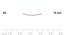 5/18-5/18, Pfeil, Gubia Recta corte 5, 18mm, semiplana.
