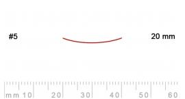 5/20-5/20, Pfeil, Gubia Recta corte 5, 20mm, semiplana.