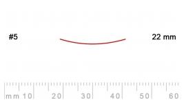 5/22-5/22, Pfeil, Gubia Recta corte 5, 22mm, semiplana.