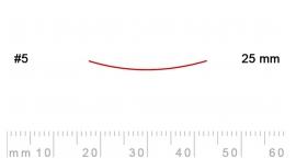 5/25-5/25, Pfeil, Gubia Recta corte 5, 25mm, semiplana.