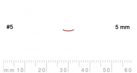 5/5-5/5, Pfeil, Gubia Recta corte 5, 5mm, semiplana.