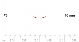 6/10-6/10, Pfeil, Gubia Recta corte 6, 10mm, semicurvada.