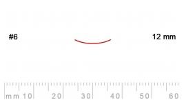6/12-6/12, Pfeil, Gubia Recta corte 6, 12mm, semicurvada.