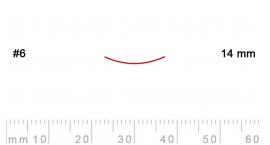 6/14-6/14, Pfeil, Gubia Recta corte 6, 14mm, semicurvada.