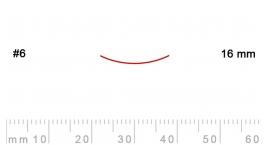 6/16-6/16, Pfeil, Gubia Recta corte 6, 16mm, semicurvada.