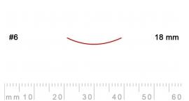 6/18-6/18, Pfeil, Gubia Recta corte 6, 18mm, semicurvada.
