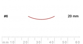 6/20-6/20, Pfeil, Gubia Recta corte 6, 20mm, semicurvada.