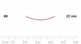 6/22-6/22, Pfeil, Gubia Recta corte #6, 22mm, semicurvada.