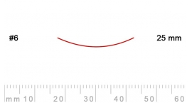 6/25-6/25, Pfeil, Gubia Recta corte #6, 25mm, semicurvada.
