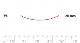 6/30-6/30, Pfeil, Gubia Recta corte #6, 30mm, semicurvada.