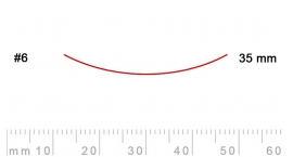 6/35-6/35, Pfeil, Gubia Recta corte #6, 35mm, semicurvada.