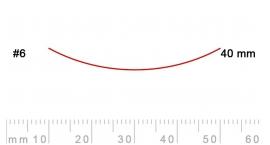 6/40-6/40, Pfeil, Gubia Recta corte #6, 40mm, semicurvada.