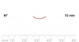 7/10-7/10, Pfeil, Gubia Recta corte #7, 10mm, curvada.