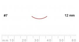 7/12-7/12, Pfeil, Gubia Recta corte #7, 12mm, curvada.