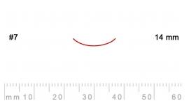 7/14-7/14, Pfeil, Gubia Recta corte 7, 14mm, curvada.
