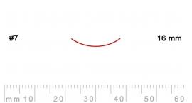 7/16-7/16, Pfeil, Gubia Recta corte #7, 16mm, curvada.