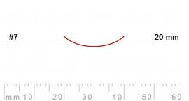 7/20-7/20, Pfeil, Gubia Recta corte 7, 20mm, curvada.