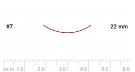 7/22-7/22, Pfeil, Gubia Recta corte 7, 22mm, curvada.