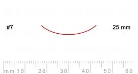 7/25-7/25, Pfeil, Gubia Recta corte #7, 25mm, curvada.