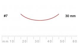 7/30-7/30, Pfeil, Gubia Recta corte 7, 30mm, curvada.